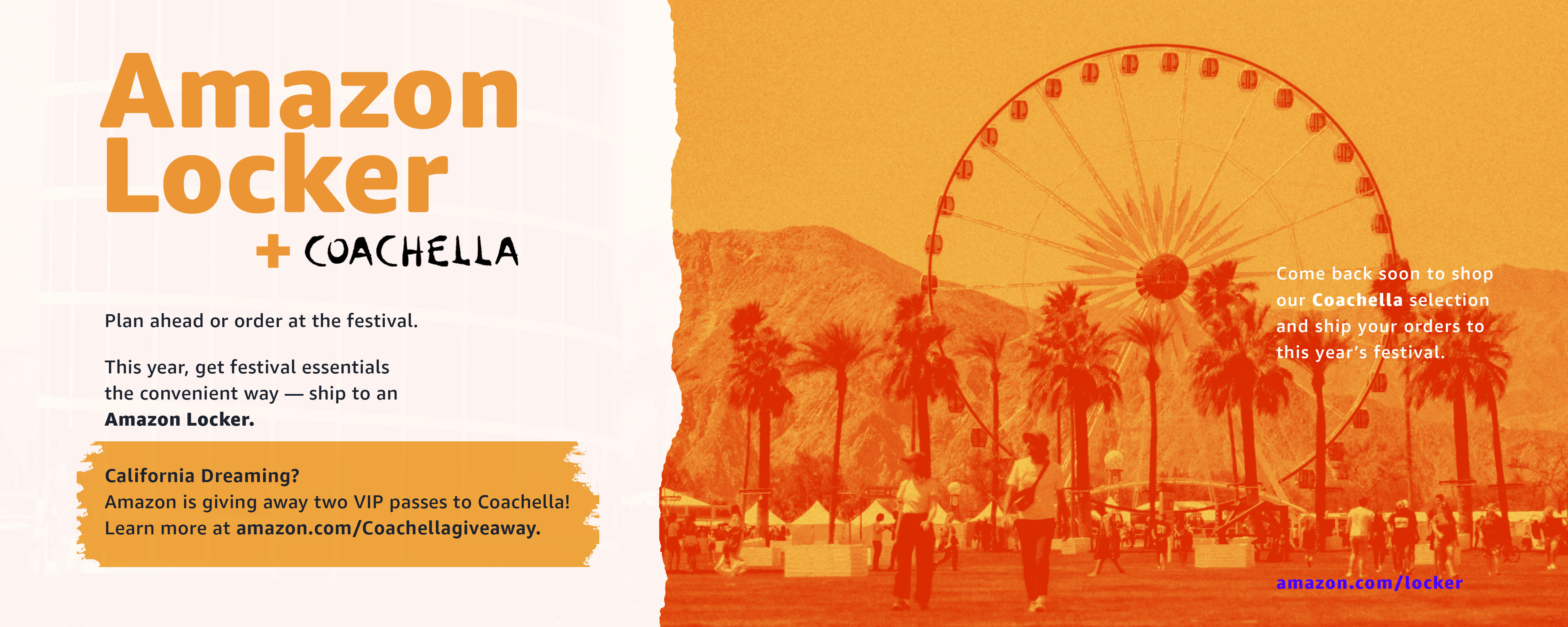 Amazon Locker + Coachella