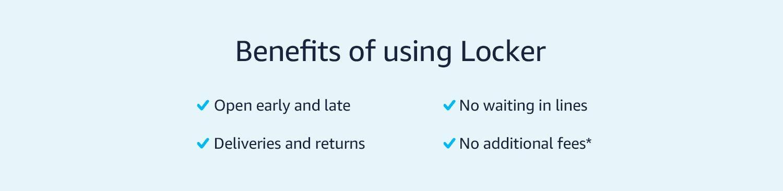 Benefits of using lockers