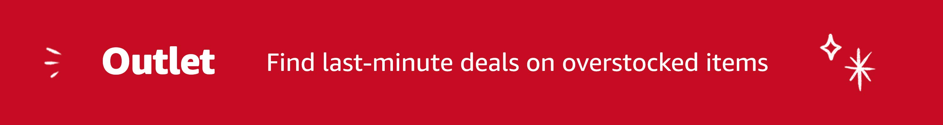 Outlet: Find last-minute deals on overstocked items