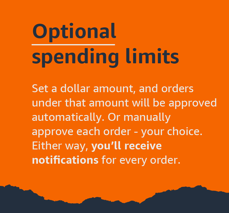 Optional spending limits