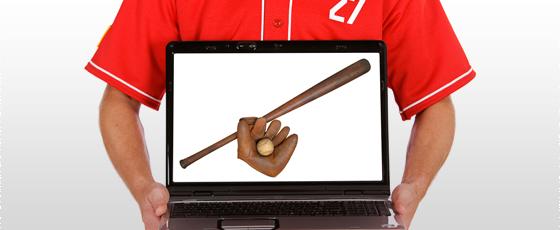 Man sells sports memorabilia items in online marketplace