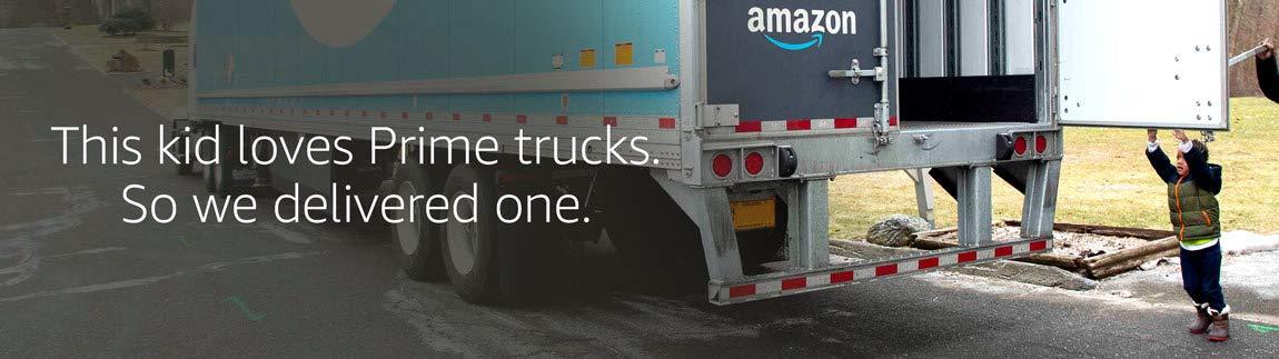 This kid loves Prime trucks. So we delivered one.