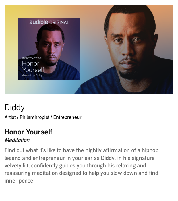 Fall asleep to a relaxing meditation guided by the hip-hop legend.