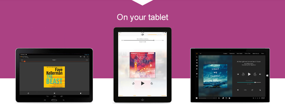 Audiobook on your tablet