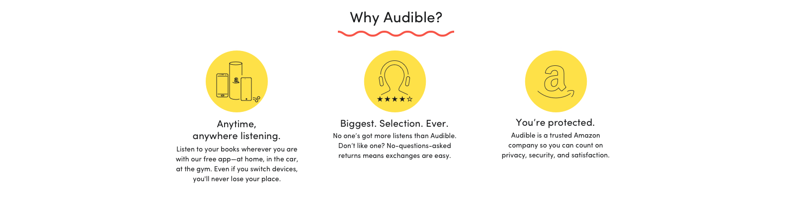 Perks of subscribing to Audible