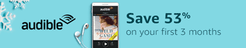 Save 53% on your first 3 months when you join Audible