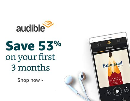 Save 53% on your first three months of Audible