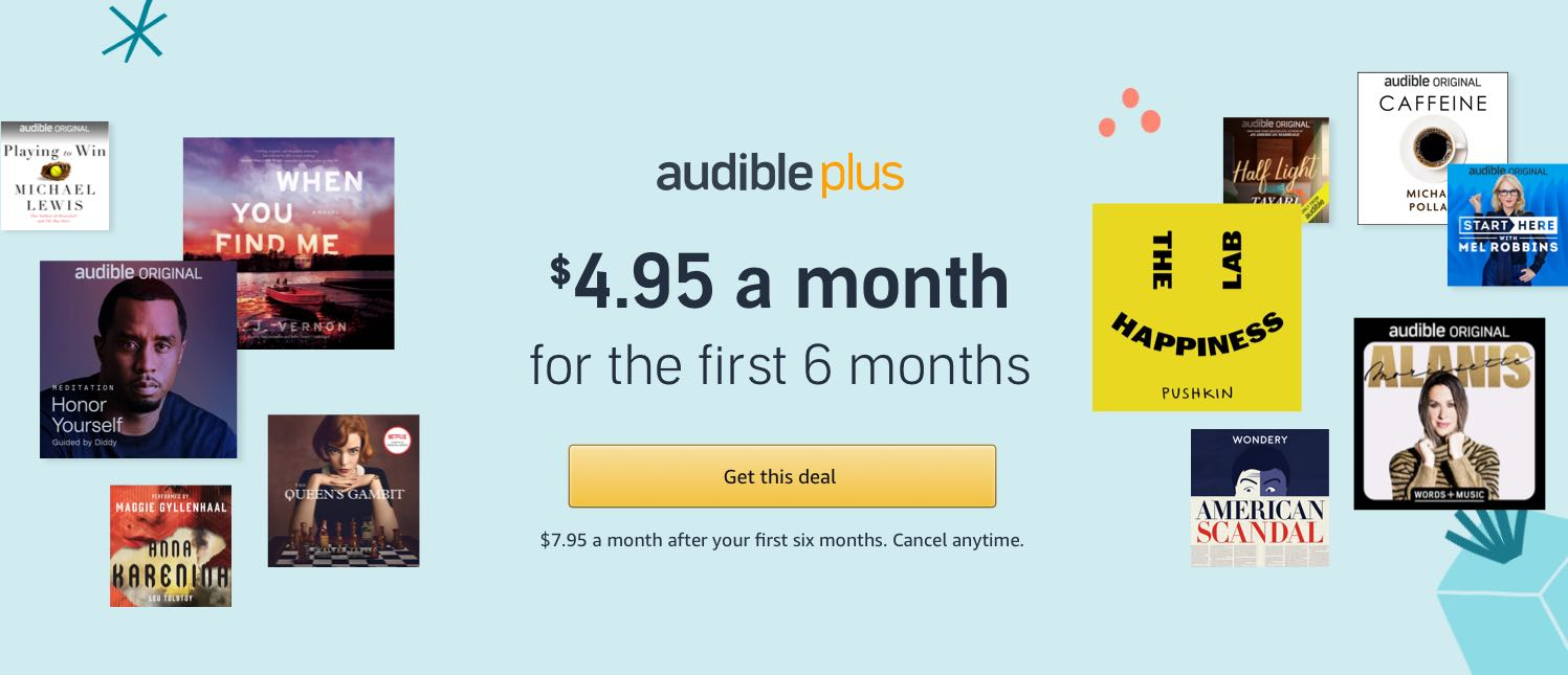 Audible Plus Holiday Offer 2
