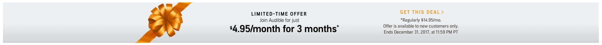 Limited Time Offer.