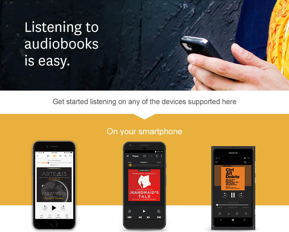Audiobook on your smartphone