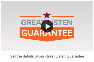 Great Listen Guarantee