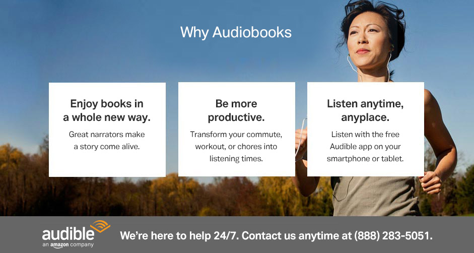 Enjoy books in a whole new way: Great narrators make a story come alive.