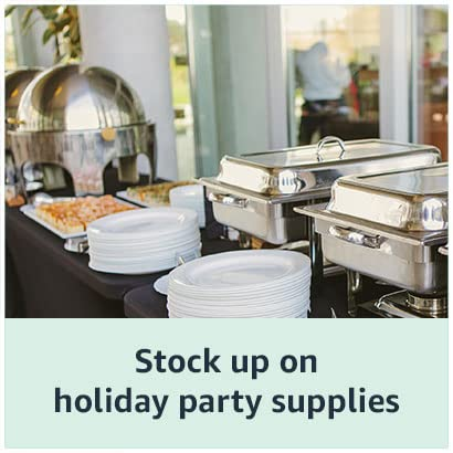 Stock up on holiday party supplies