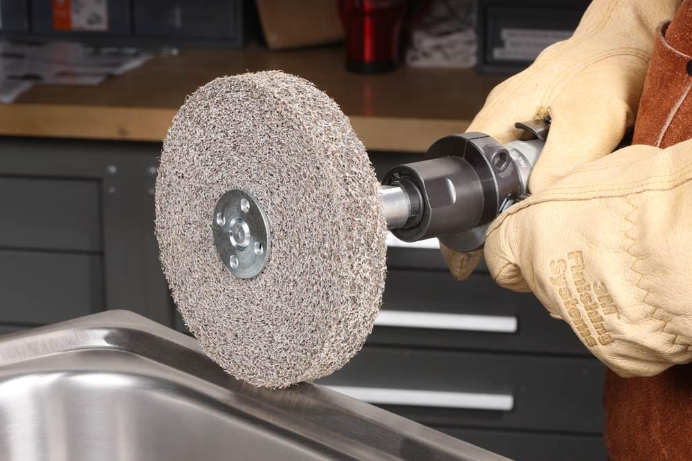 14 in Diameter PRICE is per WHEEL 8 in Center Hole 3M Scotch-Brite MU-WL Convolute Silicon Carbide Soft Deburring Wheel Medium Grade 13329 Arbor Attachment 2 in Thickness