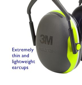 Thin, lightweight hearing protection