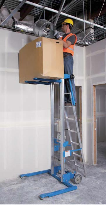 Hydraulic Material Lift : Genie lift gl heavy duty aluminum manual