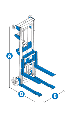 Genie GL-10 Material Lift with Aluminum Straddle Base Specifications