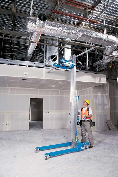 Hydraulic Material Lift : Genie super lift advantage sla lbs load capacity