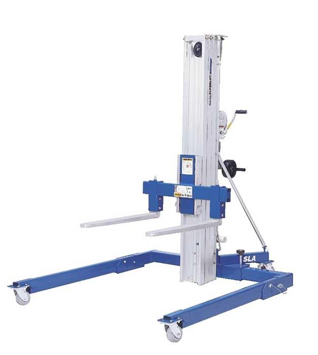 Hydraulic Material Lift : Genie super lift advantage sla straddle base