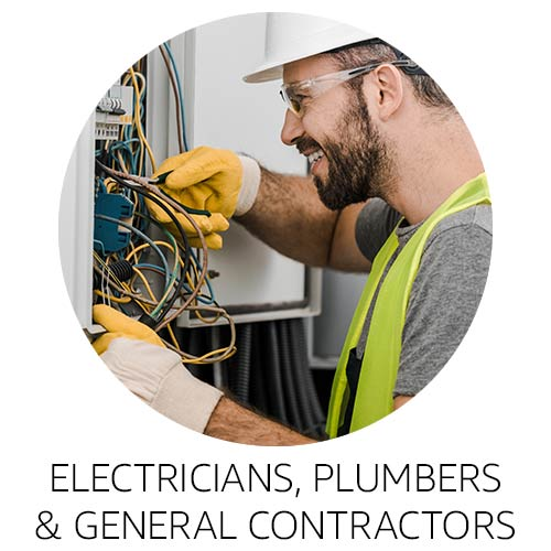 Electricians, plumbers and general contractors
