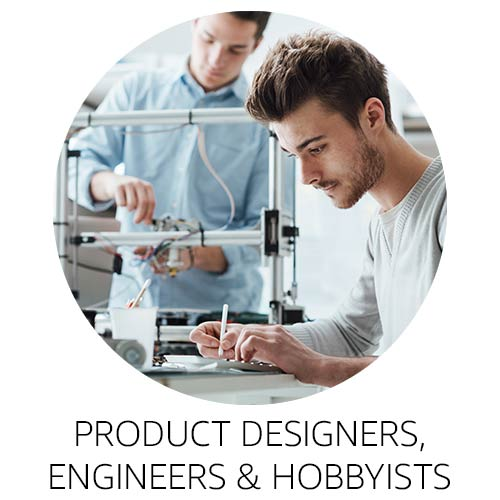 Product designers, engineers, and hobbyists