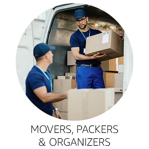 Movers, packers, and organizers