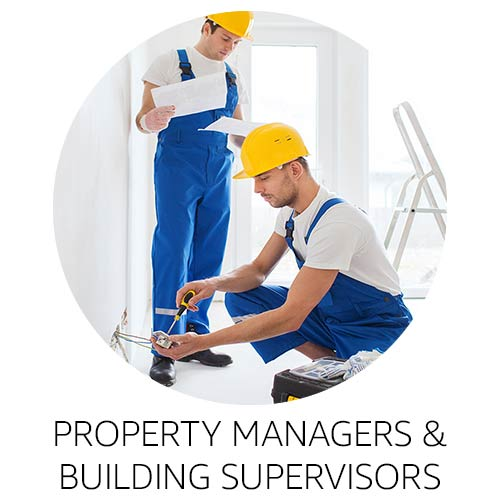 Property managers and building supervisors