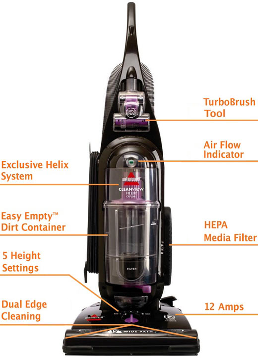 .com - bissell cleanview helix deluxe upright vacuum, bagless ...