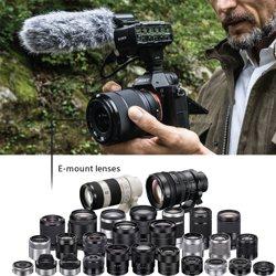 Utilizes Sony's E-mount lens system.