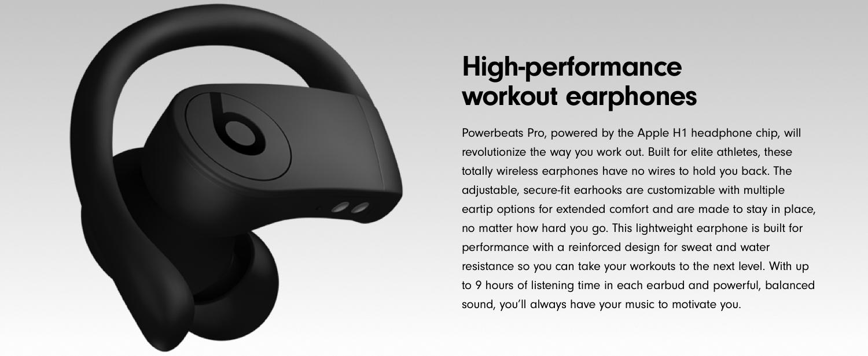 d0774aeab93 Amazon.com: Powerbeats Pro Totally Wireless Earphones - Black