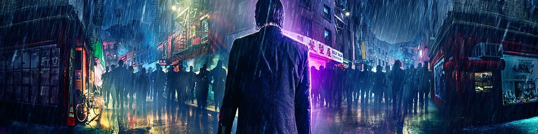Image of John Wick at night, in rain