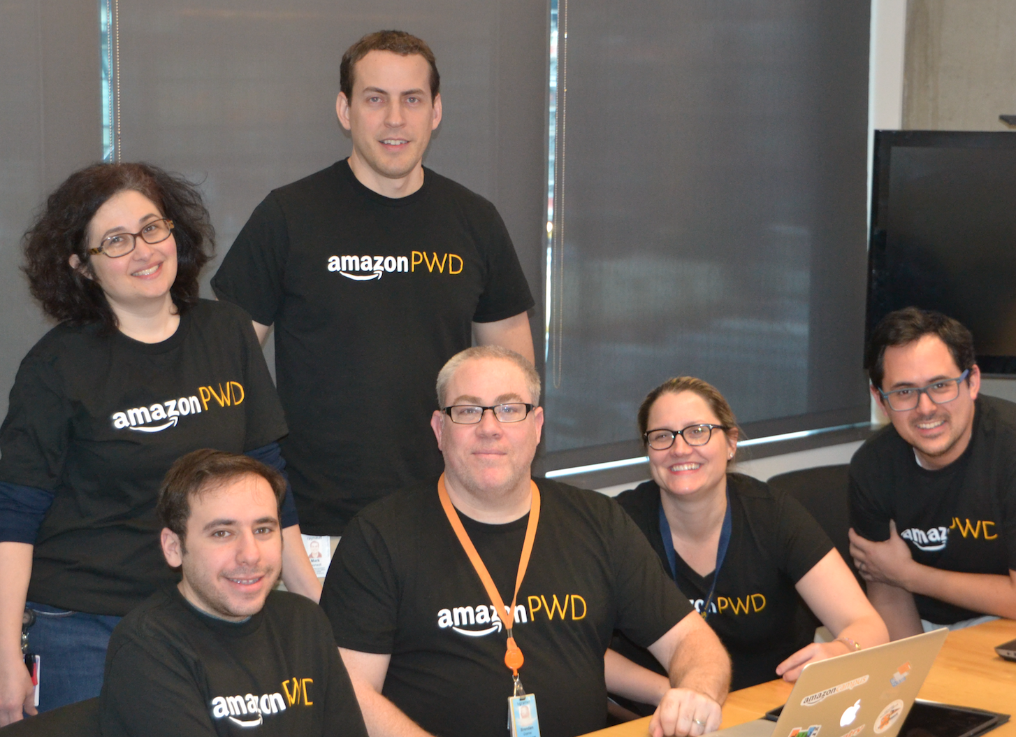 Group photo from an Amazon People with Disabilities event