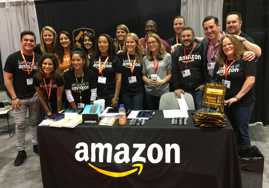 Group photo of Latinos@Amazon members