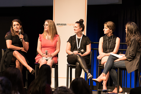A panel discussion at the Amazon Marketplace Women's Entrepreneur Conference.