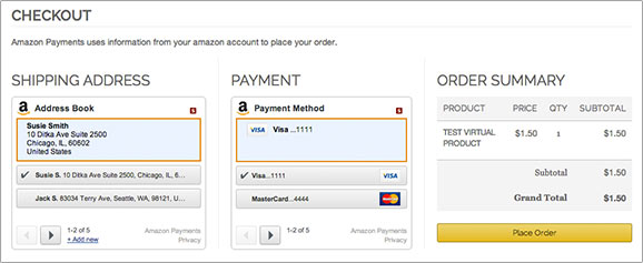 Image result for Payments window in amazon