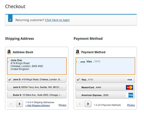 customer flow amazon checkout