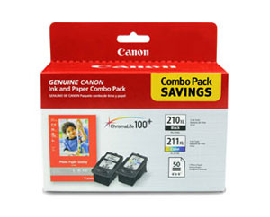 PG-210XL /7 CL-211XL w/ GP-502 (50 Sheets) Combo Pack