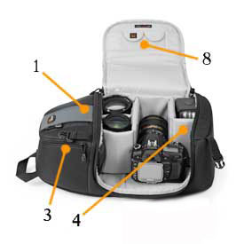 Lowepro SlingShot 202-side at Amazon.com