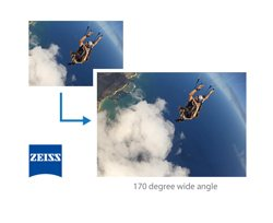 Ultra wide 170° pro quality ZEISS Tessar lens