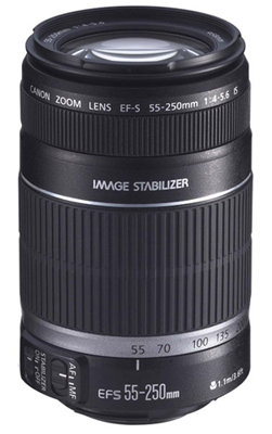 Canon EF-S 55-250mm Lens at Amazon.com