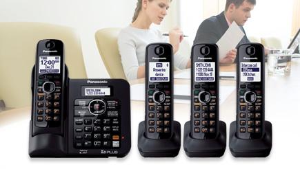Amazon.com: Panasonic KX-TG6644B DECT 6.0 Cordless Phone ...