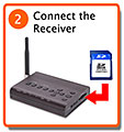 Connect the wireless receiver