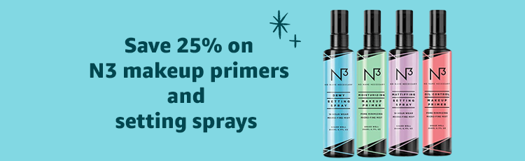 Save 25% on N3 makeup primers and setting sprays