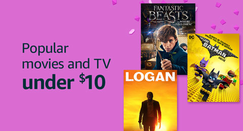 Popular movies and TV shows under $10