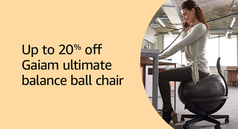 Up to 20% off Gaiam ultimate balance ball chair