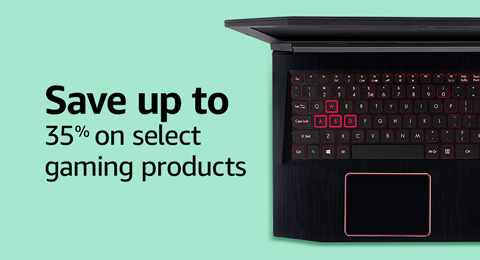 Save up to 40% on select gaming products