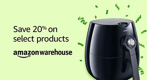 Save 20% on select Amazon Warehouse products