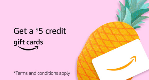Buy a $25 gift card and get a $5 credit. Terms and conditions apply.
