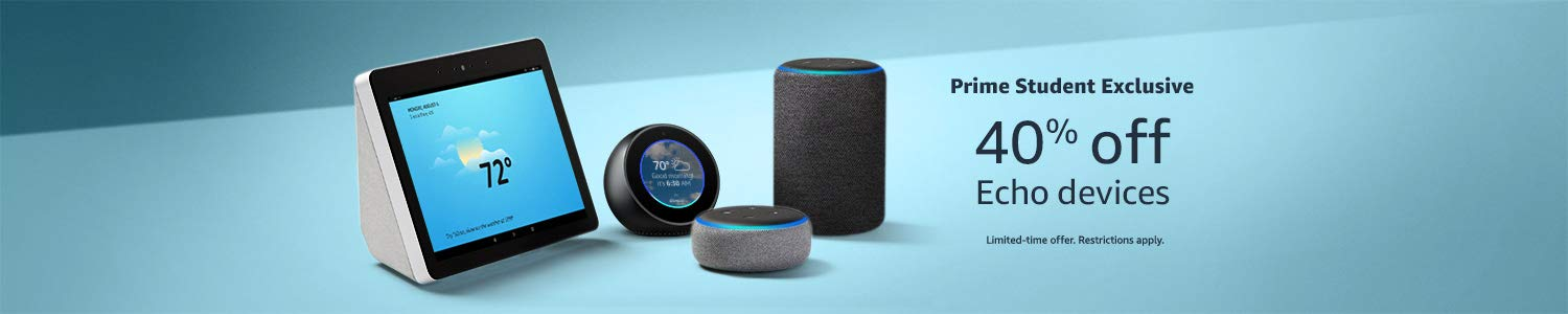 Prime Students get 40% off Echo Devices
