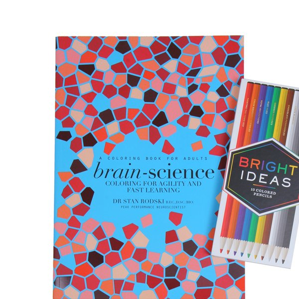 Brain-Science: Coloring Book & Colored Pencils